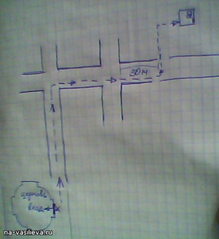 План прохода к могиле НА