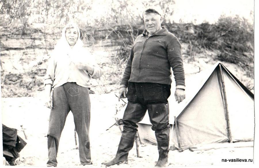 рыбаки на Волге 1976г