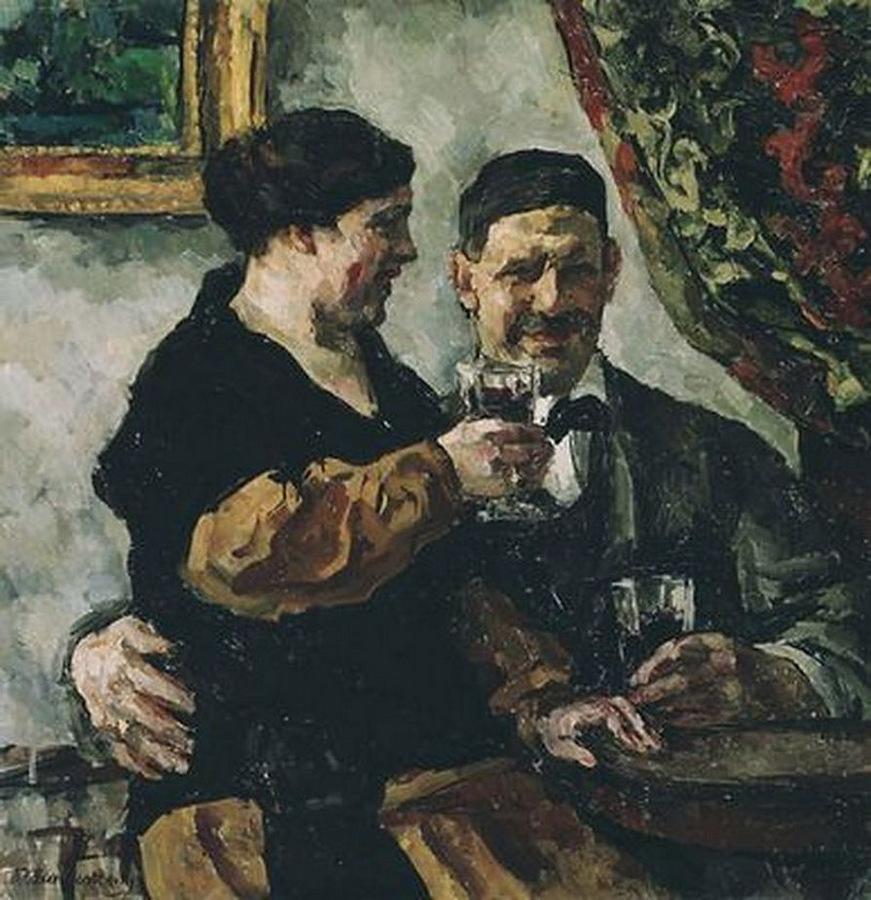 Петр Кончаловский с женой