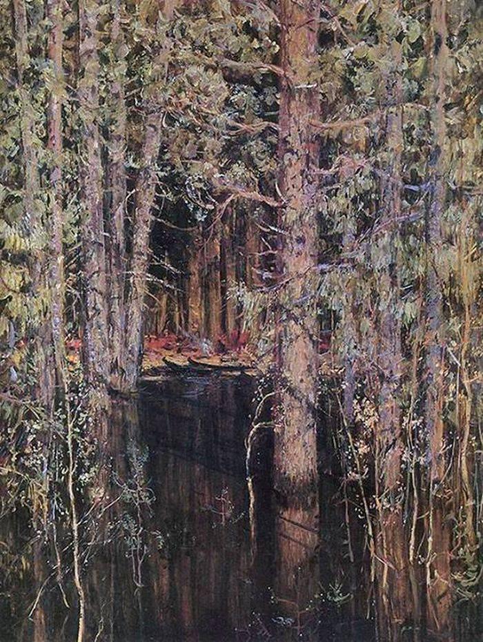 Николай Ромадин Затопленный лес