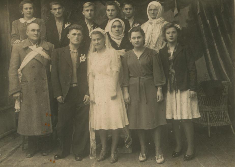 Свадьба моих бабушки и дедушки 1946 год