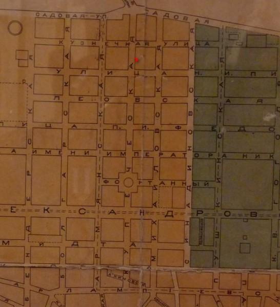 Карта Кишинева царская