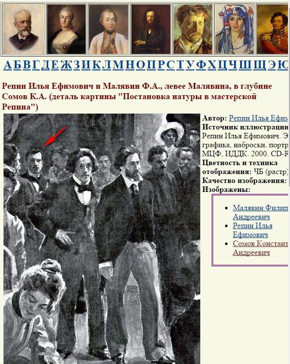 Репин Малявин Сомов