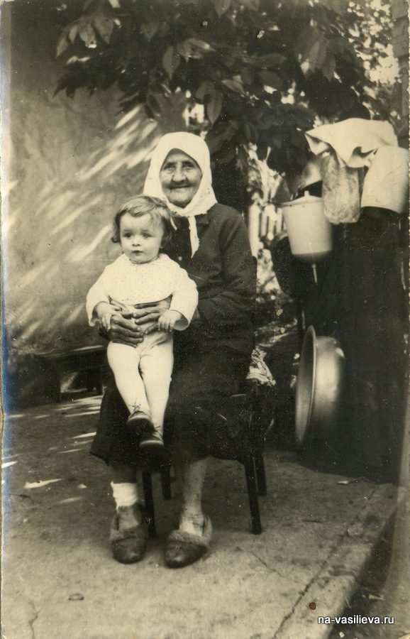 Мама Анна Антоновна Одайник с внуком