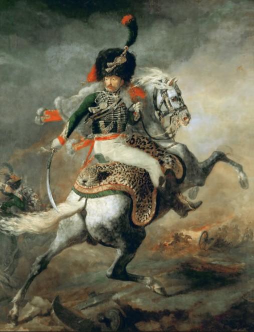 Жерико офицер на коне
