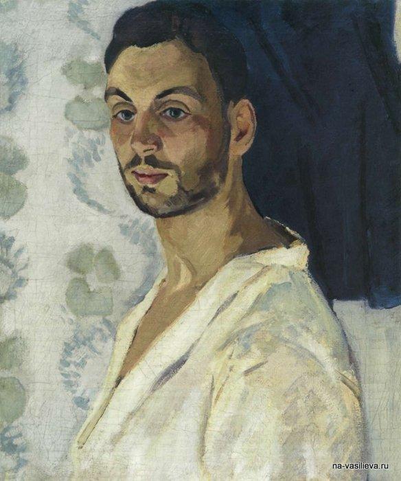 Автопортрет на синем фоне, 1909