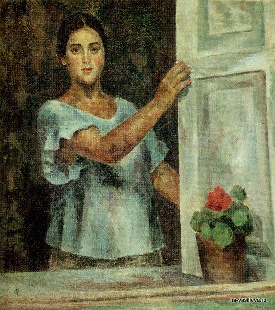 Девушка у окна (Р.В. Идельсон), 1926
