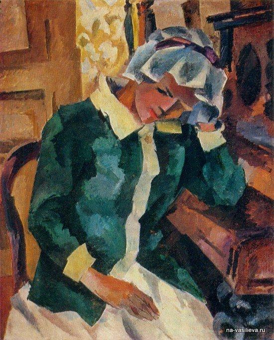 Женщина у пианино (Е.С.Потехина), 1917