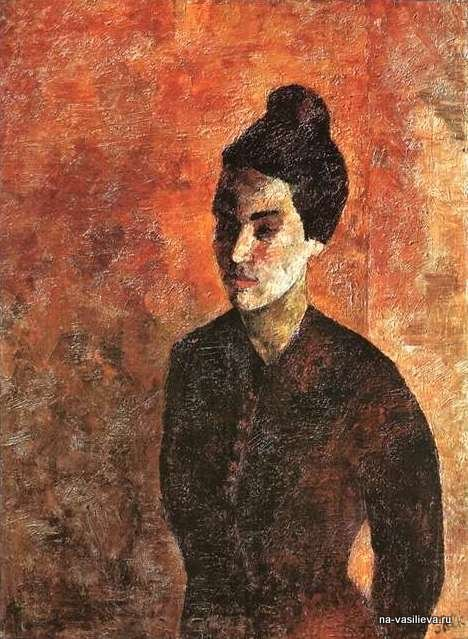 Женщина в красном лифе (Р.В.Идельсон), 1922