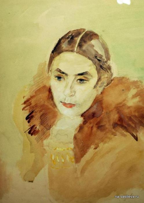 Портрет А. Щекин-Кротовой, 1940