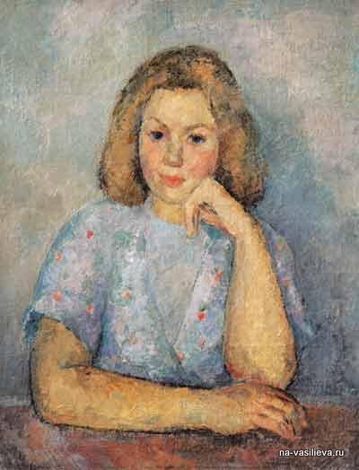 Портрет дочери Кириллы 1946
