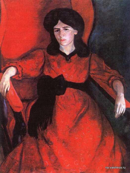 Лиза в кресле. Портрет жены художника, 1910