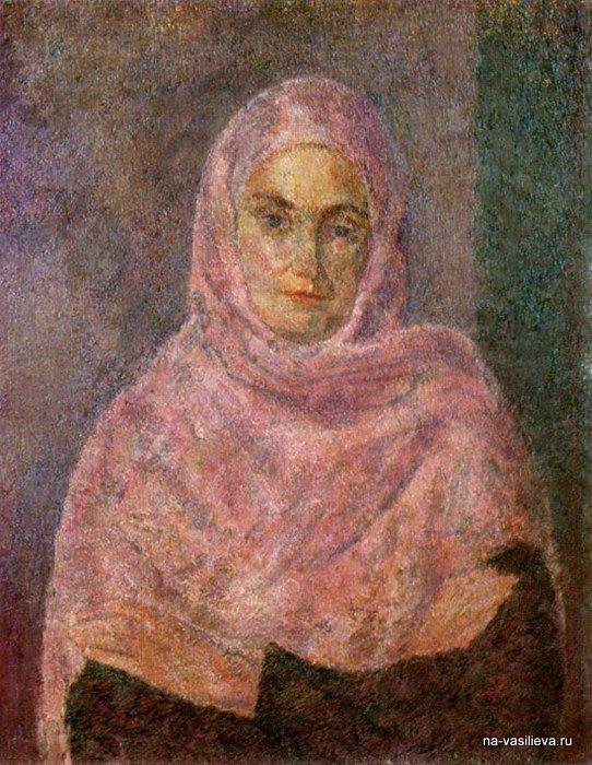 В розовой шали (А.В.Щекин-Кротова), 1953