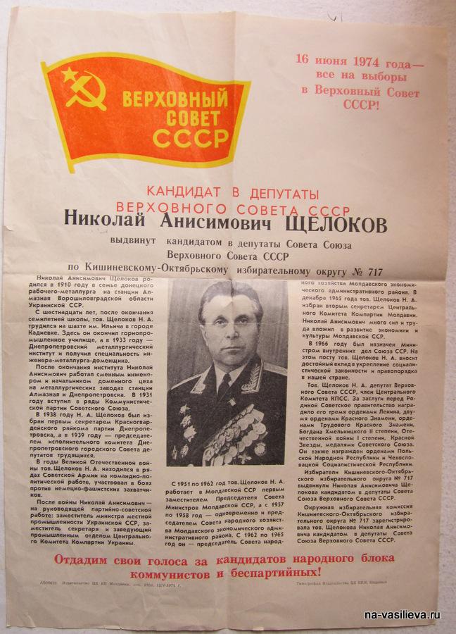 Биография Н. Щелокова