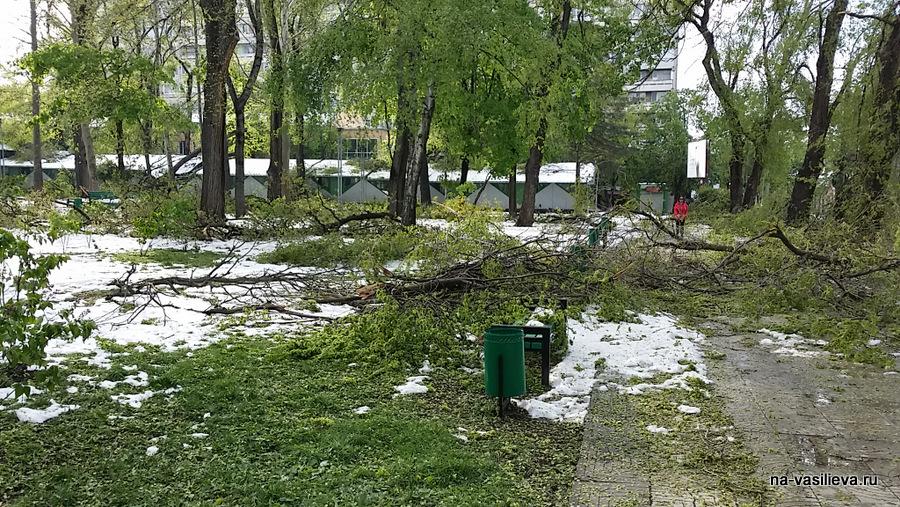 Кишинев после стихии, апрель 2017