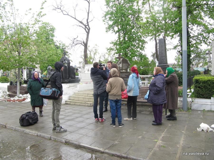 Армянское кладбище. Мэр Кишинева дает интервью