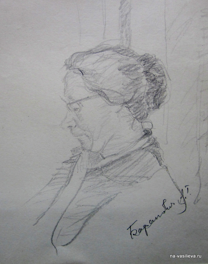 Анна Баранович. Рисунок Алексея Васильева