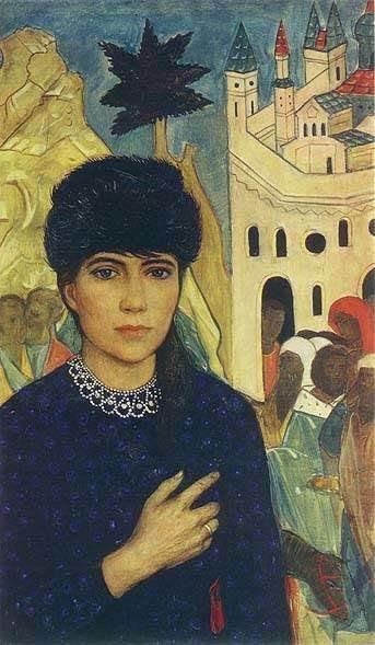 И. Глазунов Портрет жены