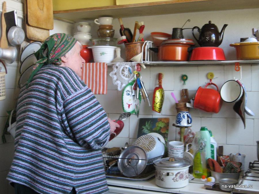 2009 Наталья Васильева на кухне