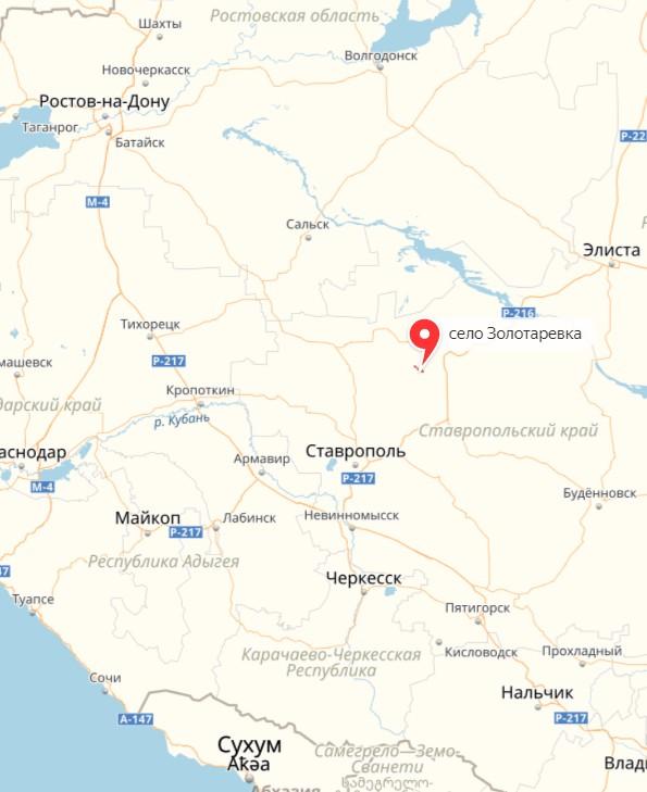 карта Золоторевка