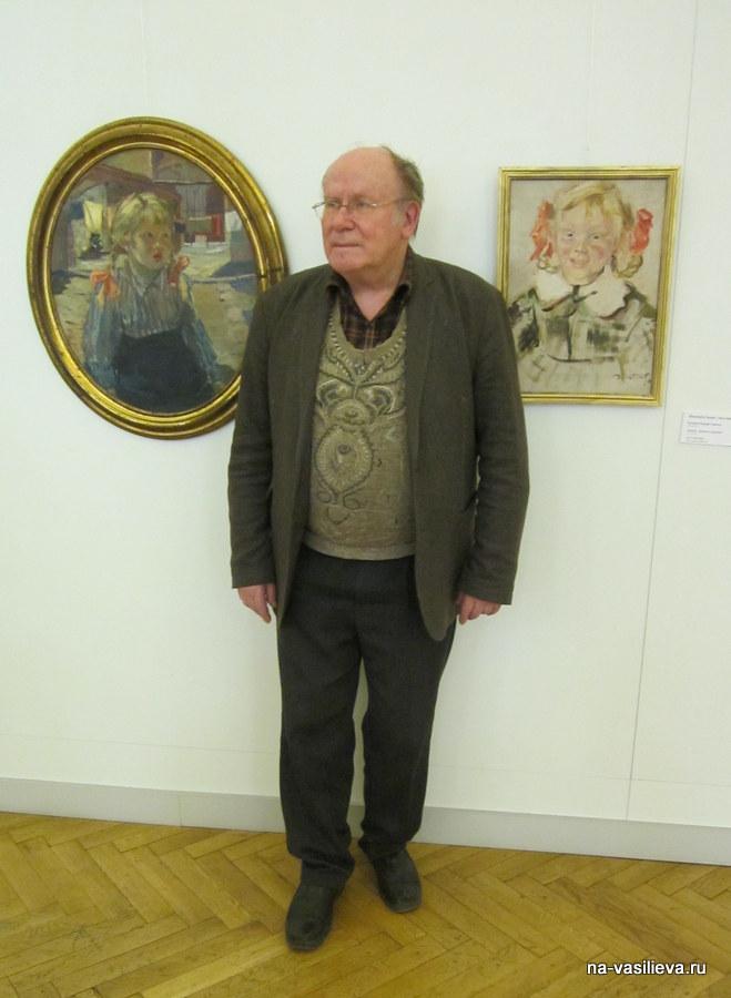 Ярослав Васильев на выставке отца Алексея Васильева