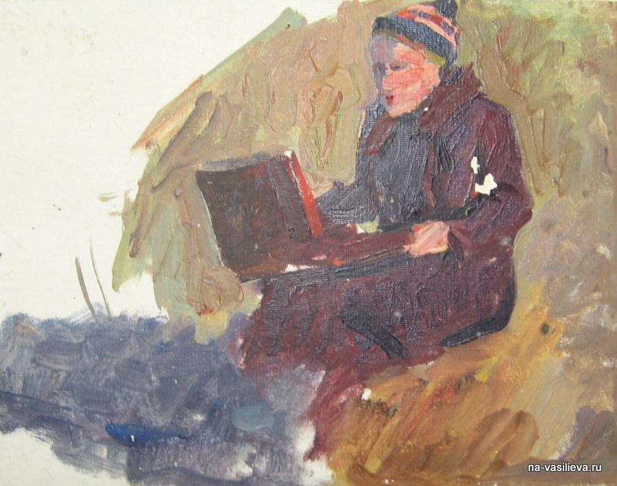 Наталья Васильева на этюдах