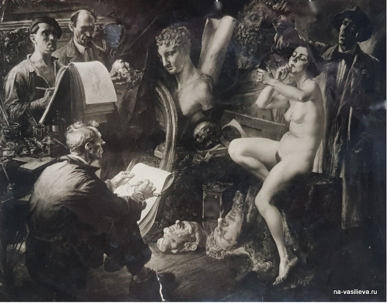 """Василий Яковлев картина """"Перед сеансом"""" 1933"""