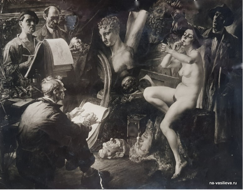 "Василий Николаевич Яковлев картина ""Перед сеансом"" 1933"