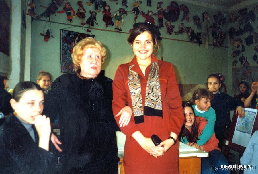 Наталья Васильева с ученицей Асей Брагинской