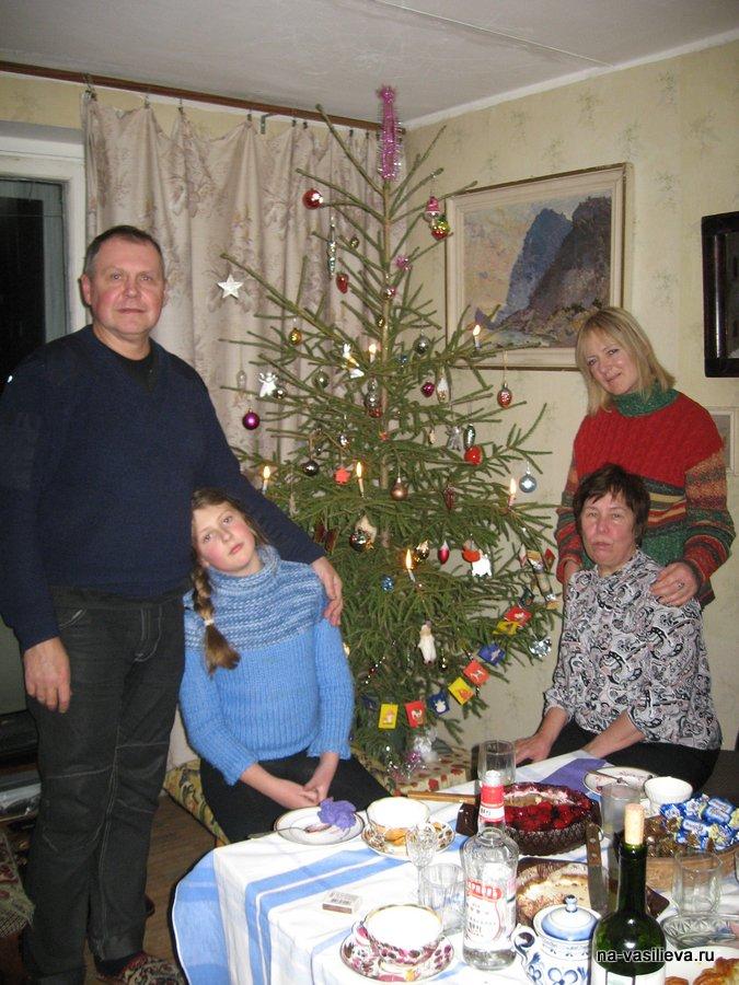 Новый 2011 год. Семья Володи Дубасова