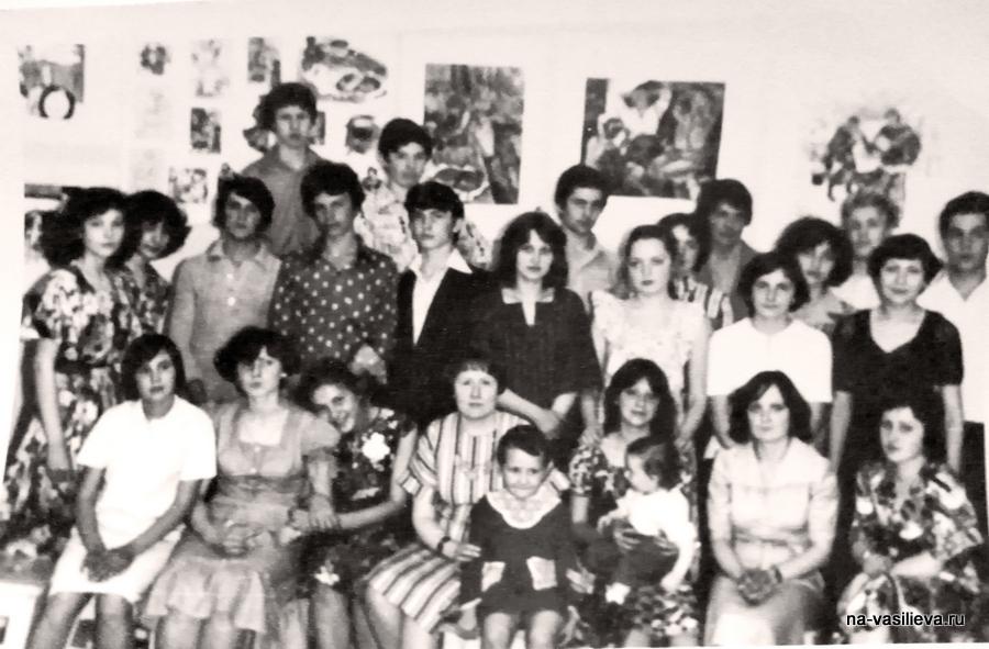 Наталья Васильева с учениками